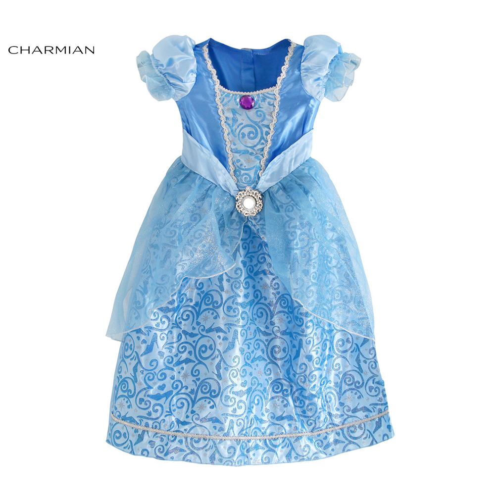 Charmian Lovely Princess Costume for Girls Halloween Fancy Cinderella Costume Anime Cosplay Vintage Masquerade Party Costume