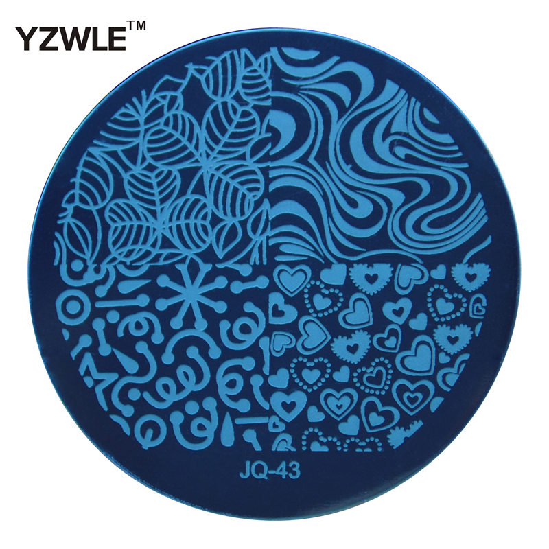 WUF 1 PC Fashion JQ43 Style Nail Art Stamp Stamping Plates Manicure Template, 75 Styles  ...