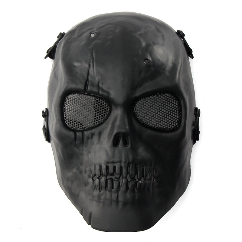 CQC Military Army Tactical Airsoft Skull Skeleton Full Protective Mask Black CS Hunting Paintball Halloween Party Face Mask