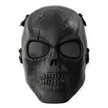 CQC militar ejército táctico Airsoft calavera esqueleto protección completa negro CS caza Paintball Halloween fiesta máscara facial