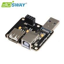 3 DSWAY 3D Части Принтера USB Модуль PC-Linked Модуль Печати Онлайн Печати Модуль Для Lerdge Материнская Плата 32bit Контроллер