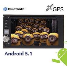 Android5.1 Jefe Unidad de Radio En El Tablero de Navegación GPS Autoradio FM USB Estéreo Del Coche 2Din Coches Reproductor de DVD de Audio Bluetooth de Dirección rueda