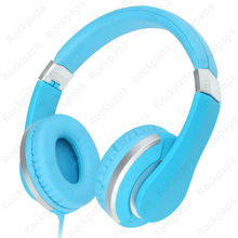 kanen i20 Blue Foldable Stereo Dj Style Adjustable Headphones Headset with Microphone for iPhone Xiaomi Redmi