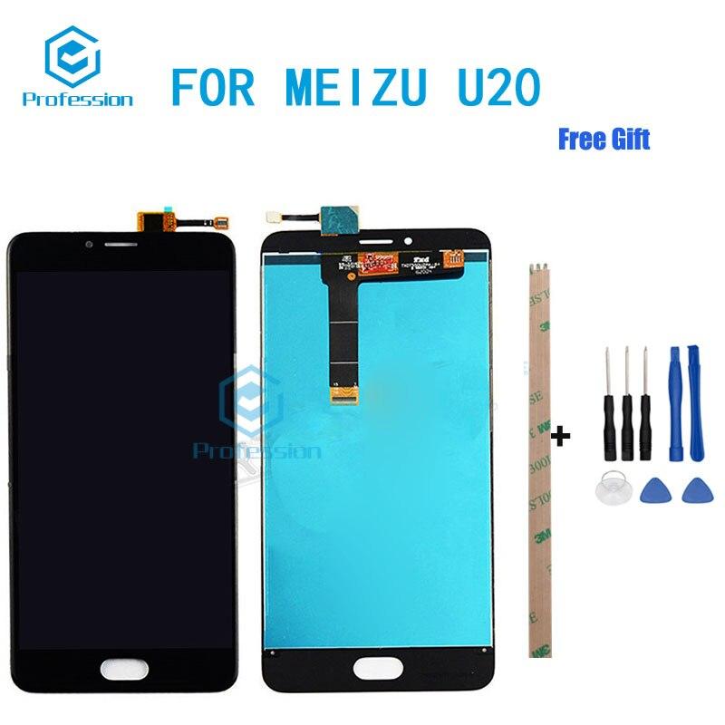 5.5 Pour Écran D'origine Pour Meizu U20 LCD Affichage et Écran Tactile Digitizer Assemblée Rempl ciment Outils + Adhésif stock