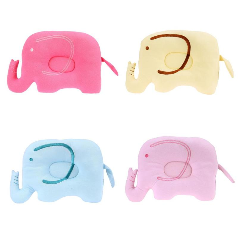 Baby Soft Shaping Pillow Cartoon Elephant Prevent Flat Head Sleeping Positioner Support Cushion Baby Bedding Room Decoration