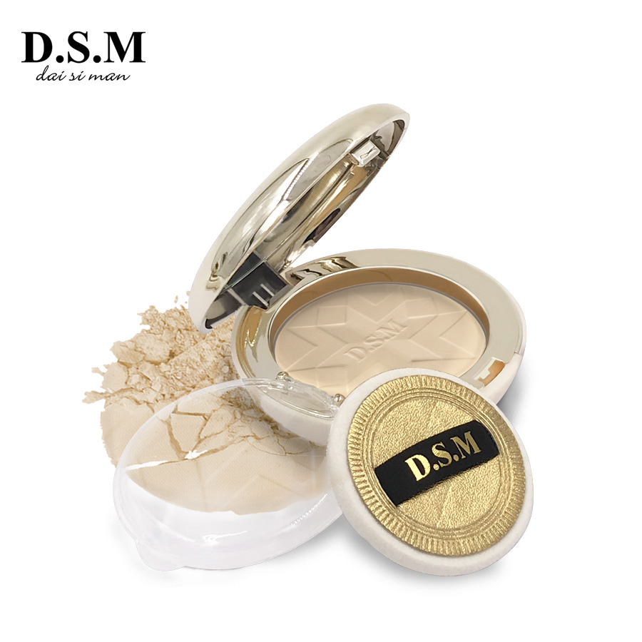 D.S.M Marke Neue Gesichts Gedrückt Pulver Aufhellung langlebige Wasserdicht Kompakte Pulver Qualität Erhellen Make-Up Pulver Kuchen