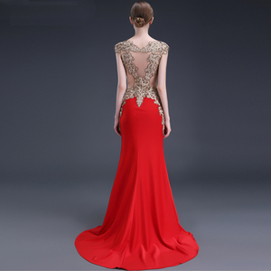 Image 2 - LPTUTTI Crystal Embroidery Plus Size New For Women Elegant Date Ceremony Party Prom Gown Formal Gala Luxury Long Evening Dresses