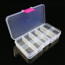 Bait Organizer Box Fishing Lures Case Tackle Storage Fisher Gear Bulk New Portable Strong Plastic Pocket Box 10 Compartments(China)