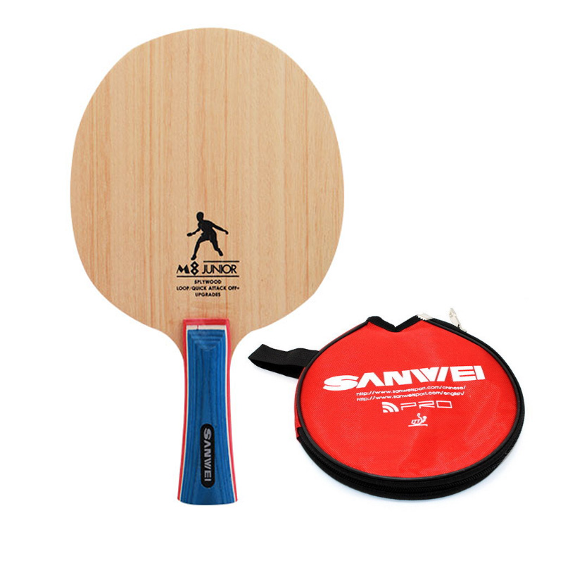 SANWEI M8 New Version Table Tennis Blade (5 Ply Wood, With Bag, For Training & Beginners) Racket Ping Pong Bat Tenis De Mesa