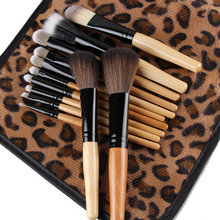 2016 12 PCS Professional  Universal Makeup Brushes Set Cosmetic Tool  Beauty Salon with Leopard Bag 5VZ1 7H4P 8LM4