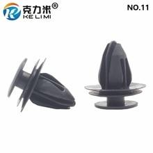 KE LI MI NO.11 Black Car Universal Plastic Door Trim Panel Fastener Clips For Mitsubishi Suzuki Toyota Decorative Plates