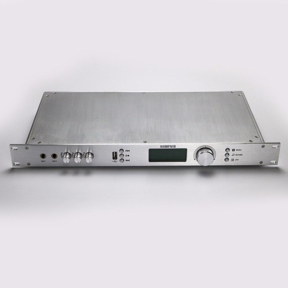 Frete Grátis T50R 50 W Potência De Saída FM Transmissor de Áudio Sem Fio e Receptor de Longo Alcance 15 KM para 25 KM