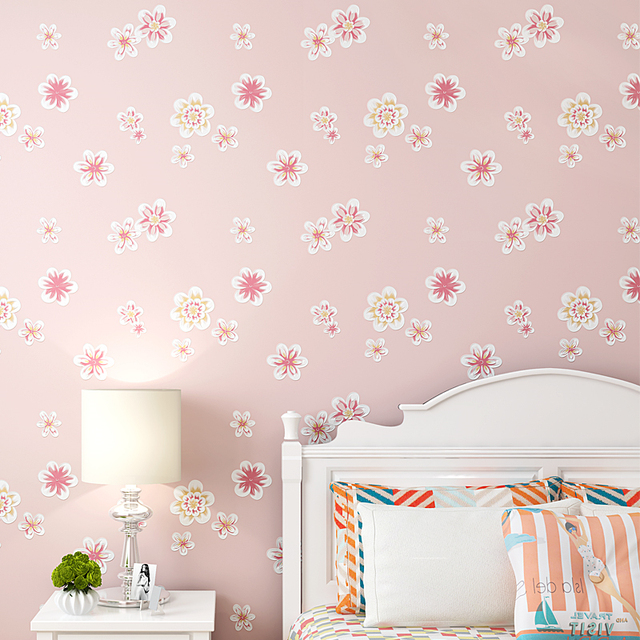 Beibehang Tapete Mode Pastoralen Stil 3d Tapete Kinderzimmer Prinzessin  Zimmer Schlafzimmer Romantische Tapete Rosa 3d Tapete
