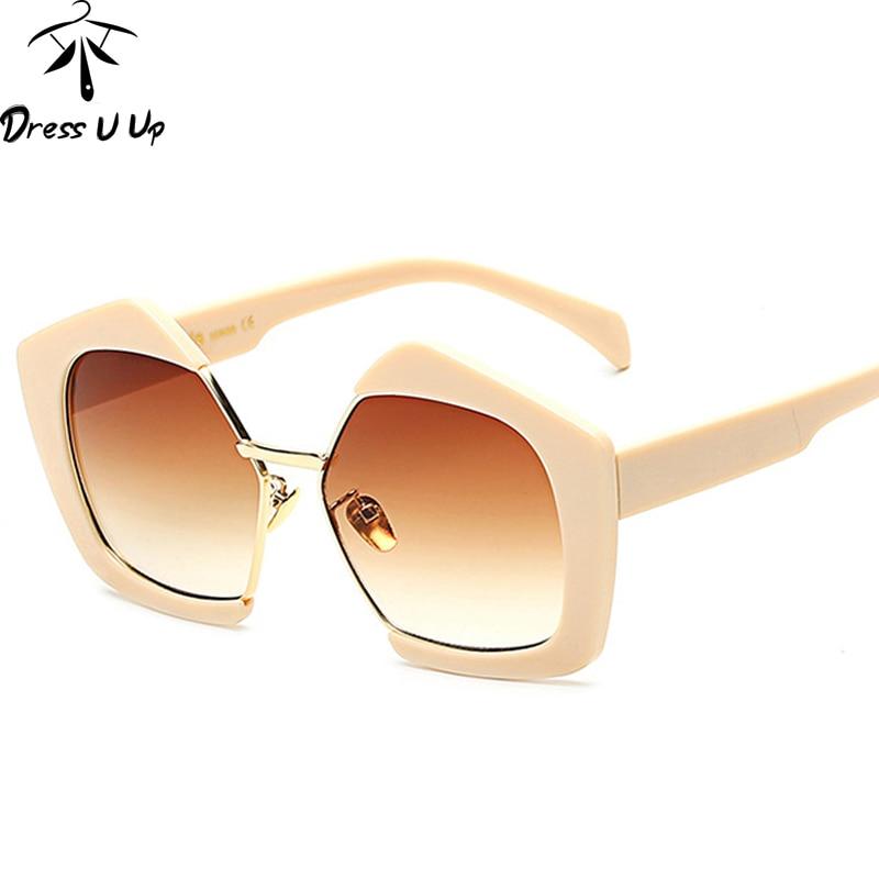 DRESSUUP Date Hipster Lunettes De Soleil Femmes Marque Designer De Mode  Semi-sans monture Miroir Nuances oculos de sol feminino homme 5d513c508d00