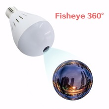 Bulb Lamp Camera Wireless Panoramic 360 VR 1080P 2MP  IP Camera Smart LED Lights Cam White Light Night Vision Bulb Home Security