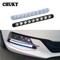 CHUKY 1Set Car LED DRL fog lamps Turn Signal with Yellow Steering For Volkswagen VW Polo 4 5 7 6 Citroen c4 c5 c3 Kia Rio Ceed