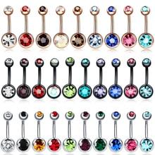 1PC Steel Belly Button Rings Navel Piercing Nombril Oreja Ear Piercings Body Jewelry Pircings