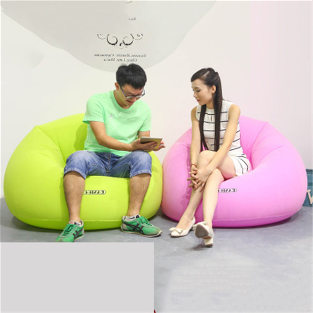 Inflatable Chair Beanbag Sofa Outdoor Pouf Puff Seat Air Chair Velvet Bean Bag Sofa with Inflator Pump