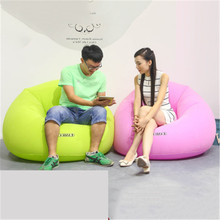 Inflatable Chair Beanbag Sofa Outdoor Pouf Puff Seat Air Chair Velvet Bean Bag Sofa with Inflator Pump(China)