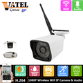 VATEL Wireless wifi camera 1080P with audio function outdoor Waterproof p2p ONVIF Network wifi System HD Video 1080P ip camera