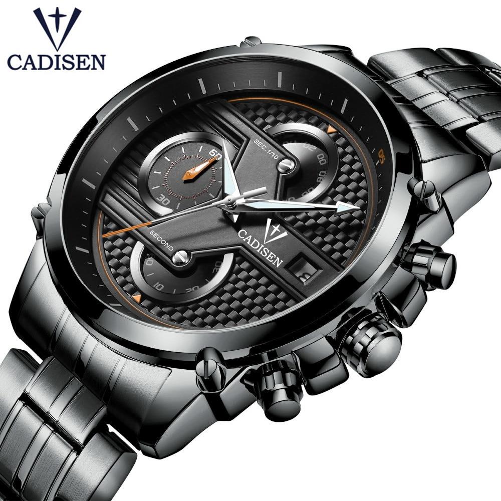 2018 CADISEN Beroemde Merk Horloges Casual Business Horloge Hodinky Klok Man Horloge Relogio Masculino Zegared Meski Gift