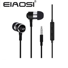 Promotional X3 3.5mm good bass metal earphone headphones with Micro phone for IPhone 6 5S 4S 4 Samsung MP3 MP4