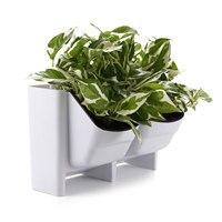 T4U 2 Pocket Succulent Planter Wall Hanging Vertical Flower Pot Home/Garden Indoor Flower Pot Planting Bags Wall Planter Pot
