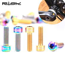2017 RISK Mtb Bike Crank Bolts Titanium M6*18 mm Bicycle Disc Brake Calipers Accessory 2 piece
