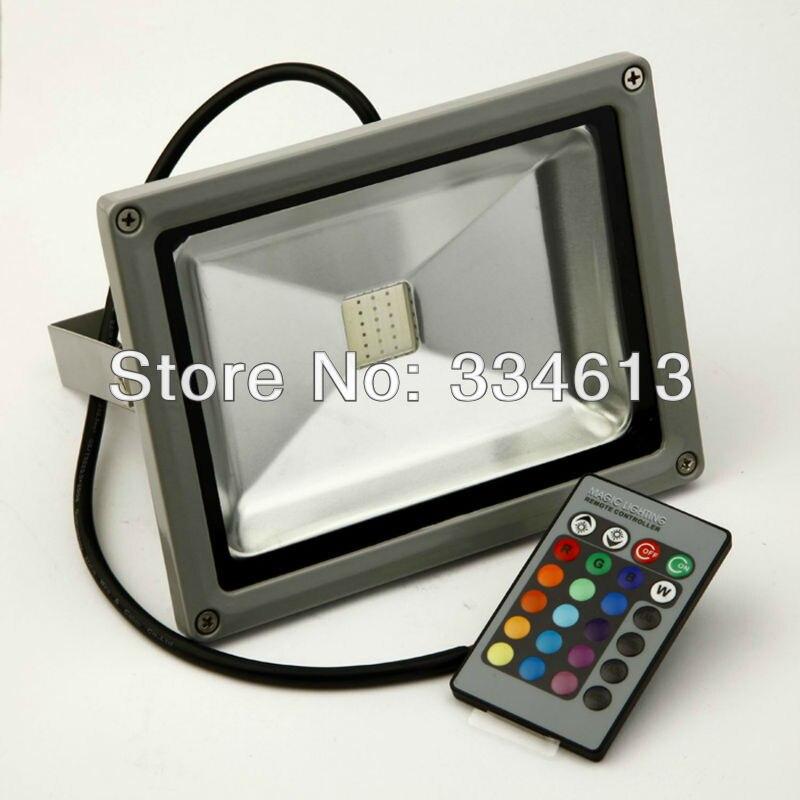 Waterproof ip65 20w led flood light rgb remote control - Remote control exterior lighting ...