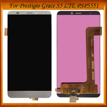 100% Tested Well For Prestigio Grace S5 LTE PSP5551 Duo PSP 5551 psp5551duo LCD Display Touch Screen Digitizer Assembly