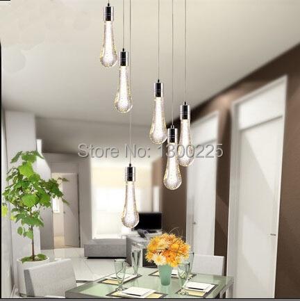 Modern Minimalist Water Drop Crystal Pendant Lights Bubble Creative Lamp LED Dining Room Living