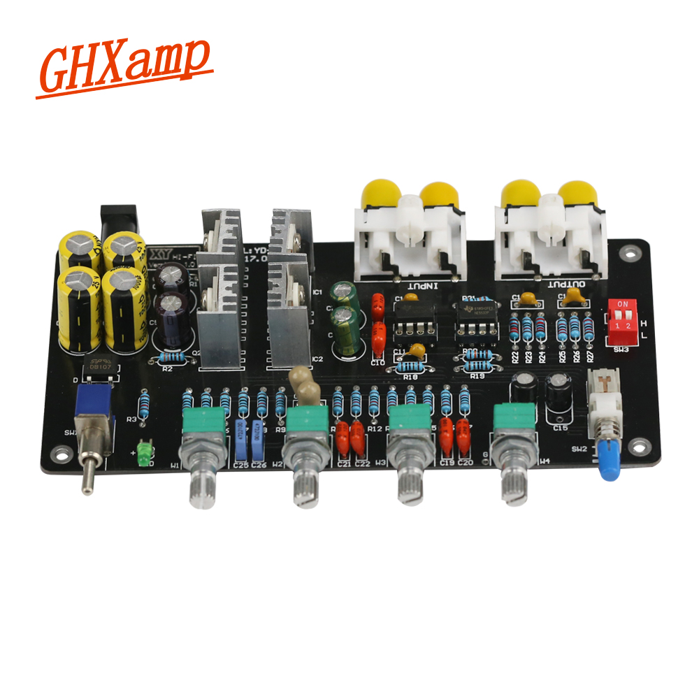 Ghxamp Preamplifier Tone audio NE5532 Tuning board HIFI Preamp Baord Treble, MID, Bass Volume control Filter circuit 1 10 rc model parts rear 1 4 times diff gear stiff for redcat himoto hsp racing drift car 02024