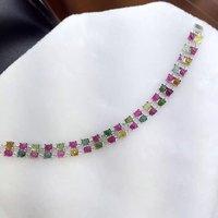 2017, распродажа QI xuan_tourmaline камень роскошные Bracelets_S925 чистого серебра Турмалин Bracelets_Manufacturer непосредственно продаж