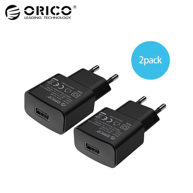 ORICO 5 В 2A ЕС Подключите USB Зарядное устройство мобильного телефона путешествия Мощность адаптер для iphone 6, iphone 6s, iphone 7 Plus samsung S7edge Xiaomi 2 шт. черный