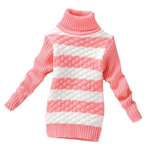 2017 Новая девушка мальчики свитер бренда дети Полосатый Вязать Свитер детская зимняя кардиганы свитер