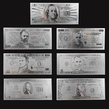 7 шт./компл. серебряные украшения, коллекционные банкноты в долларах США