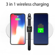 7.5W Wireless Charger Fast Charging For Apple Watch 1 2 3 for Iphone X 8 plus In usb Pad charger Samsung