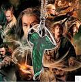 Na427 2016 de Moda El Hobbit Elf hoja Verde de La Vendimia Señor de los Anillos collar colgante Pin Ne (cklace) venta al por mayor