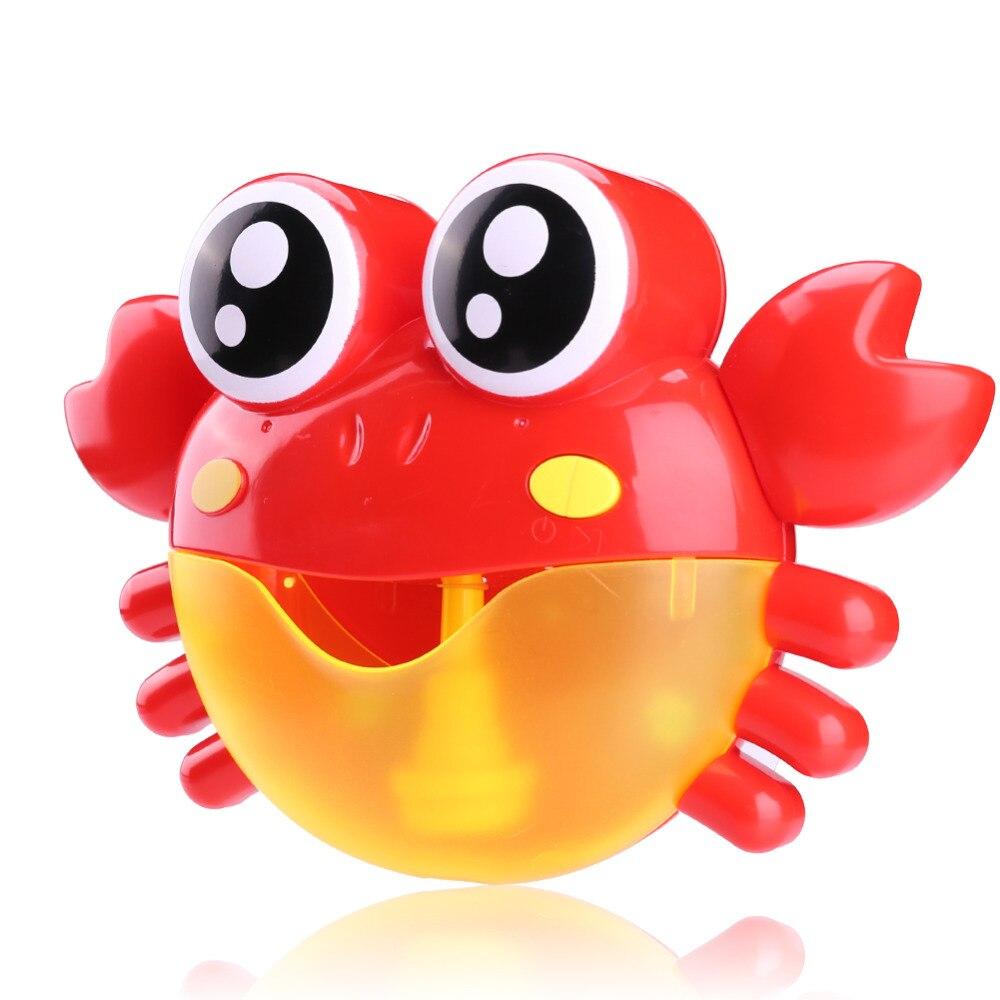Música divertida cangrejo burbuja Máquina automática eléctrica cangrejo burbuja de baño al aire libre juguetes de baño juguetes de Navidad regalos