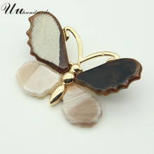 Фотография vintage Jewelry brooch lapel pin rhinestone pins women brooches fashion insect broche acrylic butterfly large scarf collar 2016