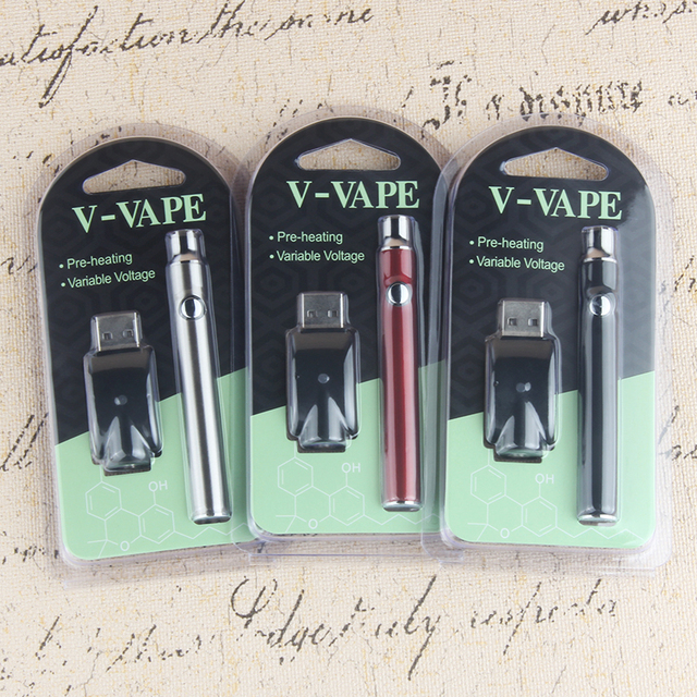 , Kingfish 510 thread preheat battery Electronic cigarette Adjust voltage cbd vape pen 350mah e cig evod battery fit ce3 cartridge