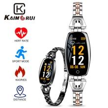 Купить с кэшбэком Women Lady Fashion H8 Fitness Bracelet Heart Rate Blood Pressure Smart Wristband Fitness Tracker Smart Watch Band Female Girl