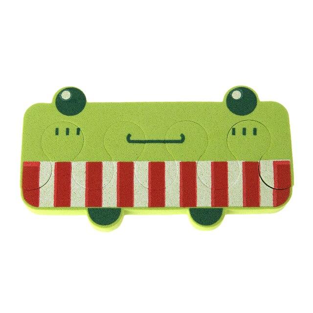 1 Par de Uñas Arte Patrón de la Rana Verde Desmontable Esponja Suave ...