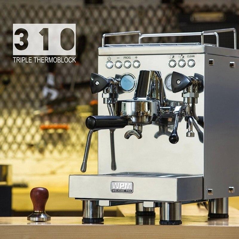 Kd-310 Welhome 220 в эспрессо кофемашина/нержавеющая сталь эспрессо кофеварка с большой емкостью и автоматической стиральной машиной