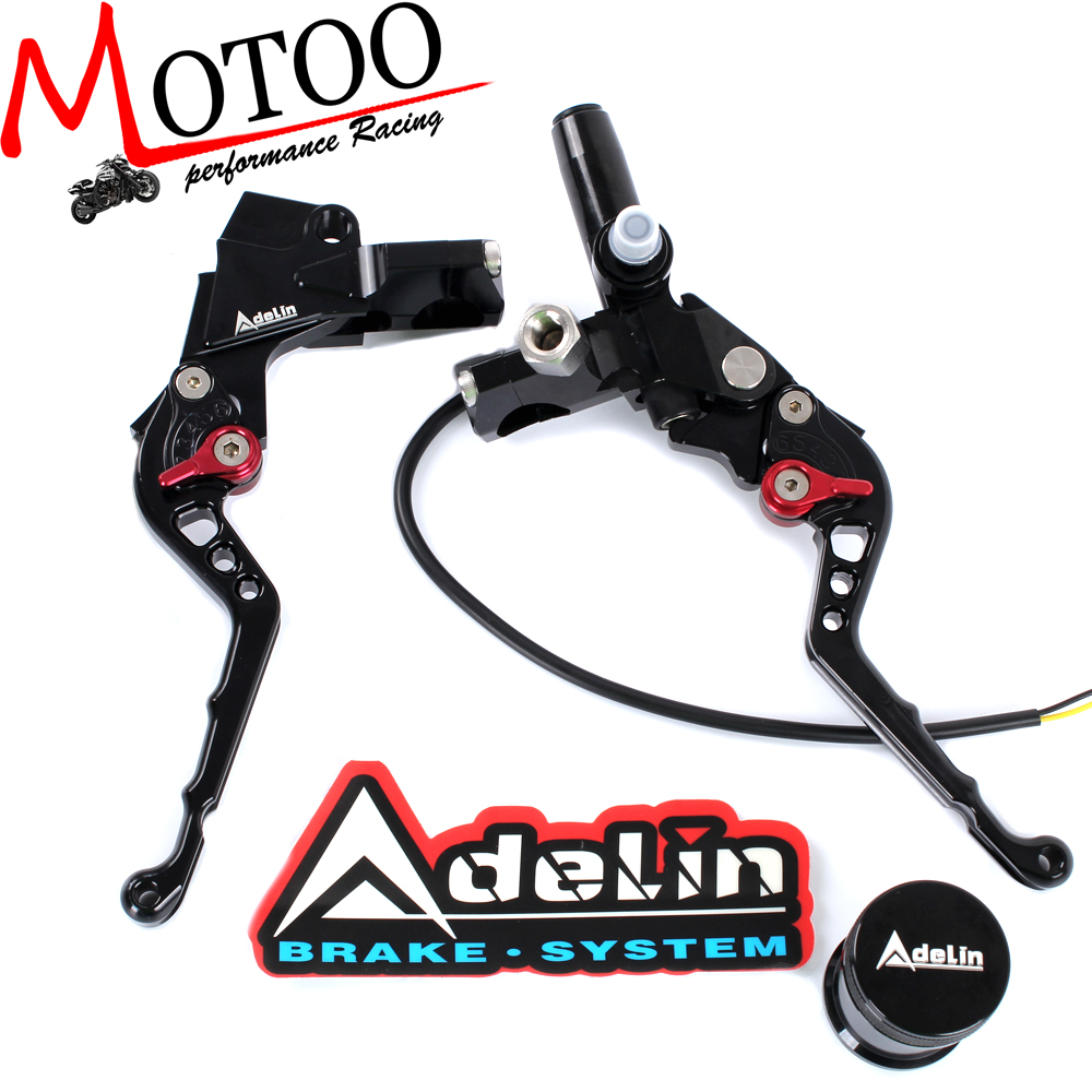 цена на Motoo - 7/8 Adelin Front Brake Hydraulic Master Cylinder Lever with Clamp Clutch Master Cylinder Lever