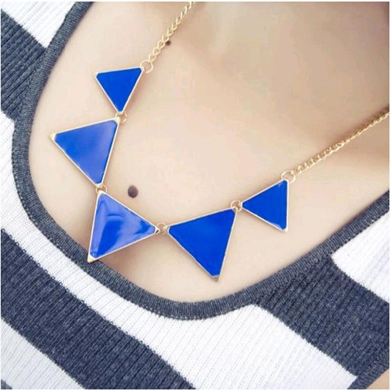 Collar de triángulo geométrico negro caliente Collar de gargantilla - Bisutería - foto 4