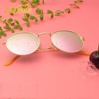 Viewnice женские Солнцезащитные очки для женщин Винтаж ретро поляризованных круглые зеркальные Светоотражающие Очки марка сплава очки продви...