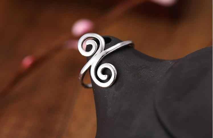 人格ボヘミアンシルバーカラーファンシー指輪ガールズアンティークリング高級女性ウェディング婚約ジュエリー
