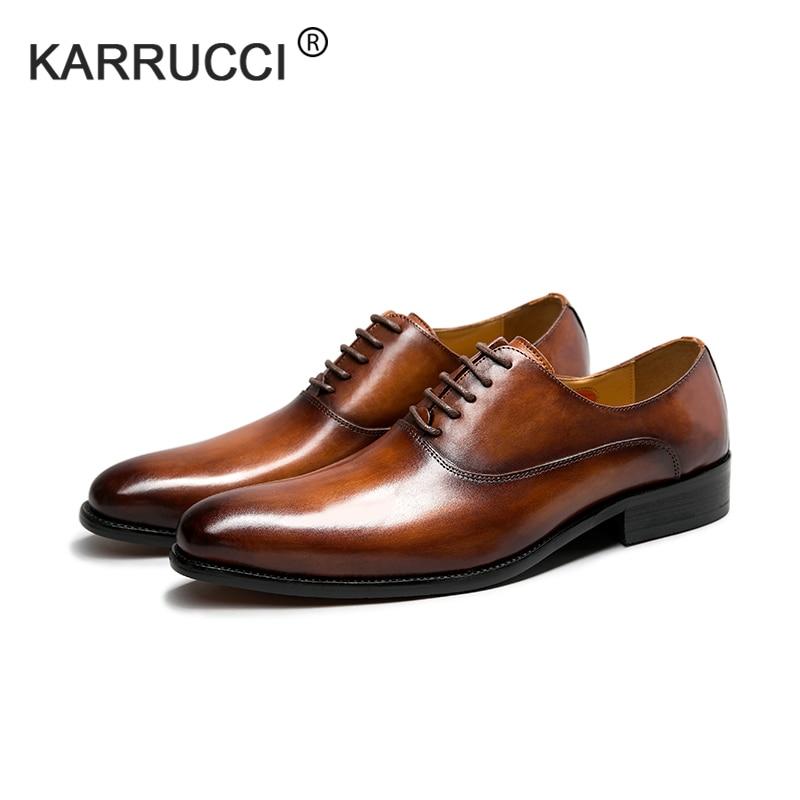 KARRUCCI Oxford Shoe Wedding Captoe Dress Handmade Business Party Genuine-Calf-Leather