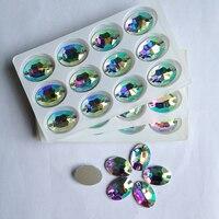 Oval cam flatback rhinestone kristal ab dikmek taşlar sigara düzeltme strass diy düğün elbise